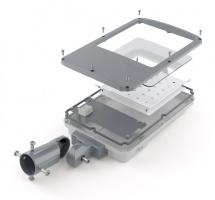 Корпус светодиодного прожектора с консольным креплением CLIO P220 завода FALDI