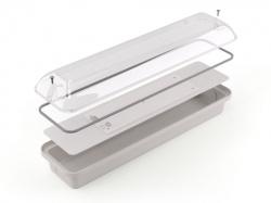 Корпус для антивандального led-светильника ID105-№1 с прозрачным светорассеивателем завода FALDI